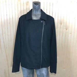 H by Halston Women 26W Motto Side Zip Jacket